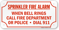 When Bell Rings Dial 911 Sign