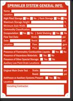 Sprinkler System General Information Sign