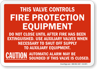 Sprinkler System Sign All Valves Controlling Sprinklers Sign