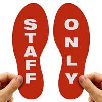 Staff Only Footprints Floor Marker