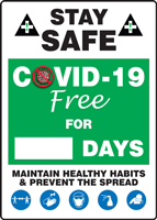 Safety Priority. Quality Standard. Mark A Day Sign