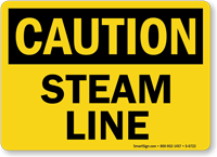 Steam Line OSHA Caution Sign