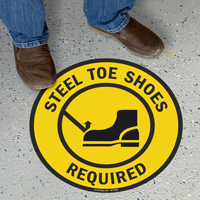 Steel Toe Shoes Required Floor Sign