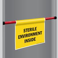 Sterile Environment Door Barricade Sign