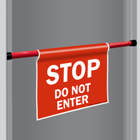 Stop Do Not Enter Door Barricade Sign Sku S2 1969