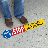 STOP - Forklift Traffic Only