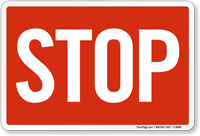 Red STOP Railroad Clamp Sign