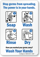 Stop Germs From Spreading Sign
