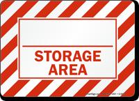 Storage Area Sign