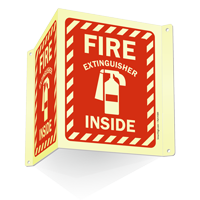 Projecting Fire Extinguisher Inside Sign with Graphic