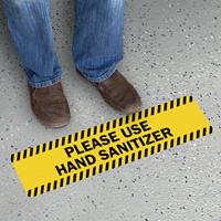 Striped Border - Please Use Hand Sanitizer
