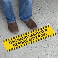 Striped Border - Use Hand Sanitizer Before Entering