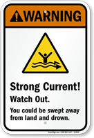 Strong Current! – Watch Out Sign