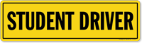 Student Driver Magnetic Sign for Car