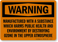 Warning: Public Health and Environment Sign