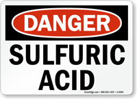 Danger Sulfuric Acid Sign
