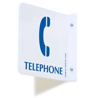 2 Sided Projecting Telephone Sign