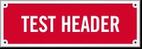 Test Header Sprinkler Laser Etched Sign