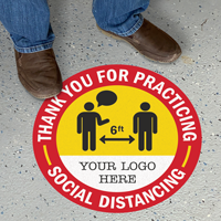 Thank You For Practicing Social Distancing Custom Floor Sign