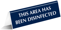 This Area Has Been Disinfected Tabletop Tent Sign