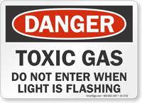Toxic Gas Do Not Enter OSHA Danger Sign