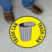 Trash Can Floor Sign