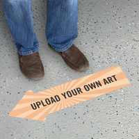 Upload Your Own Art Custom Arrow SlipSafe Floor Sign