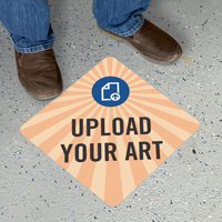 Upload Your Own Art Custom Diamond SlipSafe Floor Sign