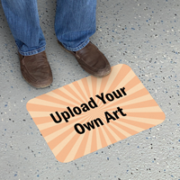 Upload Your Own Art Custom Rectangle SlipSafe Floor Sign