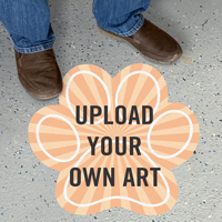 Upload Your Own Art Custom Shape SlipSafe Floor Sign