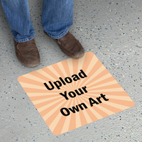 Upload Your Own Art Custom Square SlipSafe Floor Sign