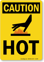 OSHA Caution Hot Sign