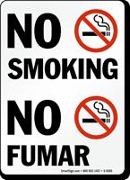 No Smoking / No Fumar Bilingual Sign