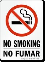 Bilingual No Smoking / No Fumar Sign