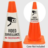 Video Surveillance No Trespassing Cone Collar