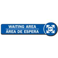 Waiting Area Bilingual SlipSafe Floor Sign