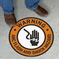 Warning Shock Hazard with Graphic Sign