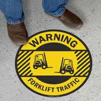 Forklift Traffic Warning SlipSafe Floor Sign