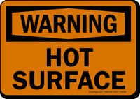 Warning: Hot Surface Sign