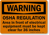 Warning OSHA Regulation Sign