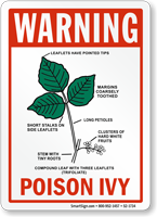 Warning Poison Ivy Sign