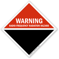 Warning Radio Frequency Radiation Hazard Sign