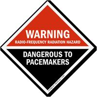 Warning Radio-Frequency Radiation Hazard Dangerous Sign