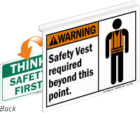 Warning Safety Vest Required Safety First Sign