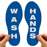 Wash Hands Footprints Floor Marker