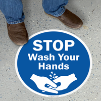 Wash Your Hands Adhesive Floor Sign