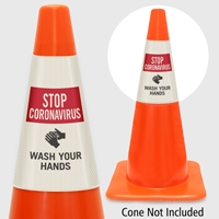 Wash Your Hands Cone Message Collar