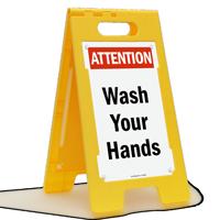 Wash Your Hands Floor Standing Sign