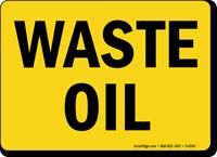 Waste Oil Sign
