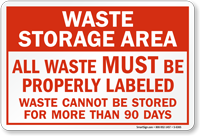 All Waste Must Be Properly Labeled Sign
